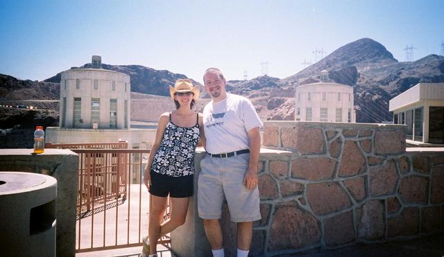 Kathy and Erik at the Hoover Dam, east of the city of Las Vegas