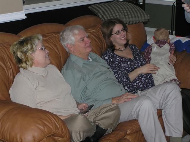 Grandma and Grandpa Morris with Kathy and Jacob